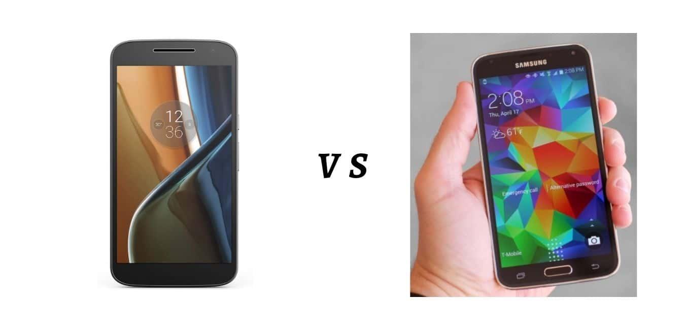 Comparison between S5 vs G4