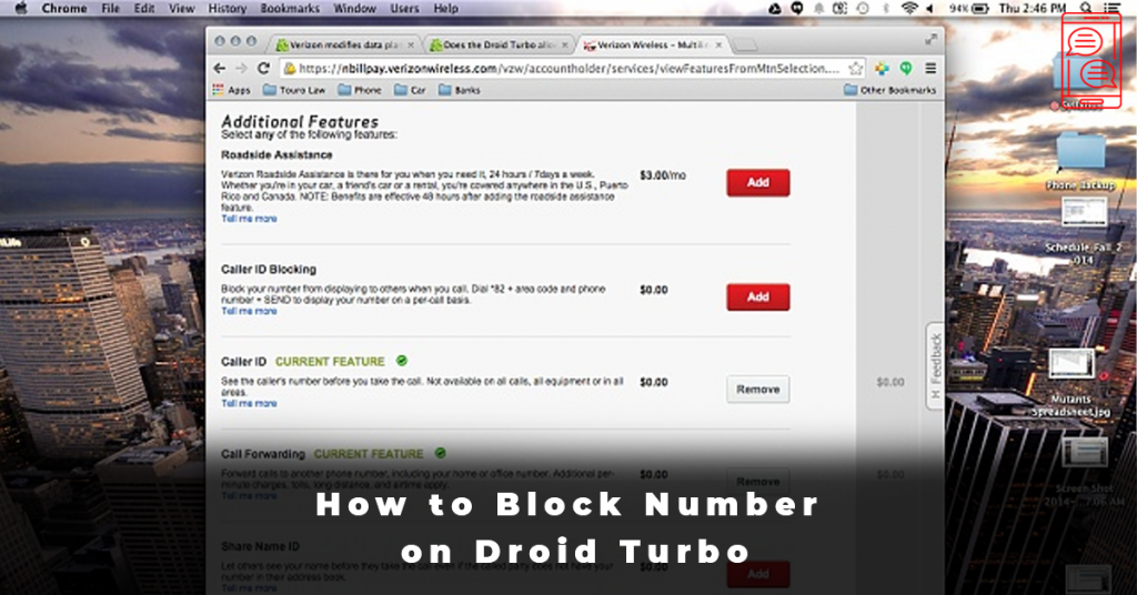 How to Block Number on Droid Turbo